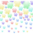 colored soap bubbles pattern vector image