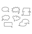 comic speech bubbles in different shapes vector image vector image