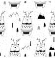 cute bear seamless pattern print design vector image