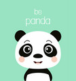 cute panda isolated vector image vector image
