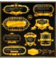 decorative ornate gold frame label vector image vector image