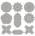 Different Geometric Ornaments Set Isolated vector image vector image