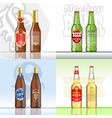 Digital beer set mockup vector image vector image