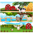 Farm animals on the farmland vector image