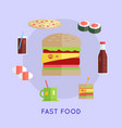 fast food conceptual vector image vector image