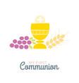 First communion symbols for a nice invitation