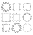 floral decorative frames - set vector image vector image