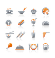 Food Icons Set 2 Graphite Series vector image vector image