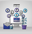 foreign exchange card vector image vector image