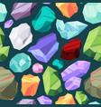 gemstones pattern luxury rudiamond crystal vector image vector image