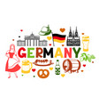 german background design germany national vector image vector image