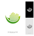 green city logo concepts symbol icon of vector image