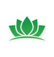 green lotus spa meditation logo vector image vector image