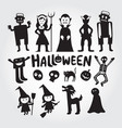 halloween monster characters set vector image vector image