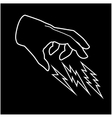 Hand and thunder vector image