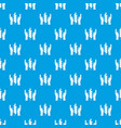 hands and ear of wheat pattern seamless blue vector image vector image