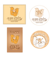 Happy cookies - logo vector image vector image