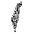 israel map composition of binary digits vector image