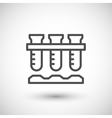 Laboratory flasks icon vector image