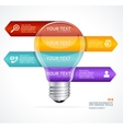 lamp Modern infographics options banner vector image vector image