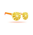 lemon sunglasses summer design object vector image