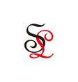 letter sl symbol curves ribbon colorful logo vector image vector image
