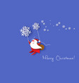 merry christmas design card with santa claus vector image vector image