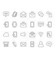 mono line icon set business theme symbols of vector image vector image