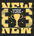 new york vintage vector image vector image