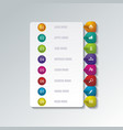 number option banners design can be used vector image