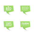 organic food green label set vector image