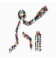 people sports cricket vector image vector image