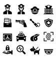 police security guard icon vector image