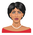 pretty lady with short hair on white background vector image vector image