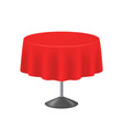 realistic detailed 3d blank red round table vector image vector image