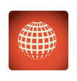 red emblem global planet icon vector image vector image