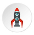 rocket icon circle vector image vector image