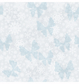 Seamless silvery Christmas pattern vector image vector image