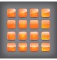 set blank orange buttons vector image vector image