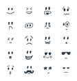 set hand drawn smiley faces sketched facial vector image vector image