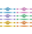 set isolated colorful bows and ribbons vector image vector image