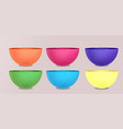 set of colorful bowls and cups element for your vector image