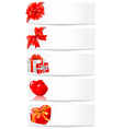 set of holiday banners vector image