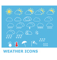 Set of weather icons for web and mobile vector image vector image