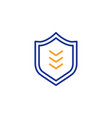 shield line icon protection sign vector image