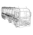 sketch of a truck with a tank created vector image