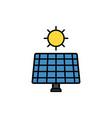 solar panel flat icon sign symbol vector image