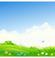 spring square background vector image vector image