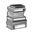 stack books sketch vector image
