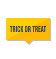 trick or treat price tag vector image vector image